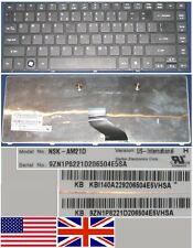 Teclado Qwerty US Int ACER AS4741G 4741G NSK-AM21D 9ZN1P8221D KB.I140A.229 Negro