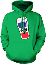 France Beer Glass with Country Flag - French Drinking Hoodie Pullover