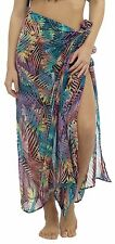 Tom Franks Ladies Tropical Palm Print Sarong One Size