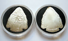 5 X 1oz .999 SILVER ARROWHEAD & INDIAN ROUNDS ~ UNCIRCULATED & AIR-TITE SEALED!