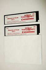 "#2 IBM PC AD&D Dragons of Flame 5.25"" 5-1/4"" Disk A B Untested TSR SSI"