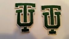 "2 - Tulane University Embroidered Iron On Patch LOT Patches 2""x 1.5""  NCAA"