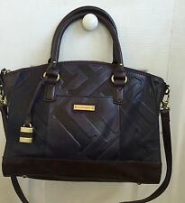NWT Tignanello Glazed Vintage Embossed Leather Zip Top Satchel