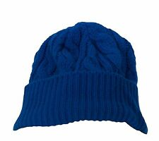 TOPMAN Kid's Cobalt Blue Knitted Acrylic Beanie Hat 56D57C One Size NEW