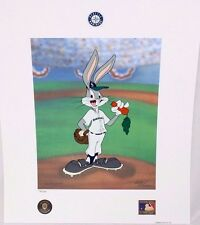 Looney Tunes McKimson MARINERS Warner Bugs Bunny Now Pitching BASEBALL Litho