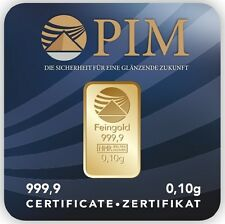 LATE-NIGHT PIM Goldbarren Feingehalt 999,9 Gold LBMA zertifiziert, (Neu) 1 Gold