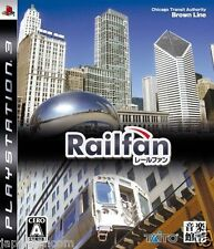 Used PS3  Railfan   SONY PLAYSTATION 3 JAPAN JAPANESE IMPORT