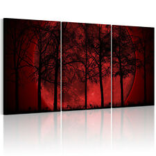 HD Canvas Prints Home Decor Wall Art Painting Picture-Red Moon Unframed #L22