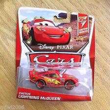 Disney PIXAR Cars CACTUS LIGHTNING MCQUEEN diecast 2013 McQUEENS THEME CARD 1/5