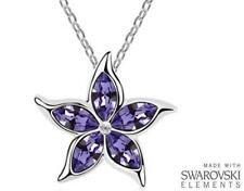 Made with Swarovski Elements Purple Star Pendant and Necklace - £38