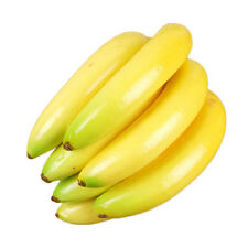 7pcs Artificial Fruit Lush Banana String Decorative Plastic Imitation Fake Fruit