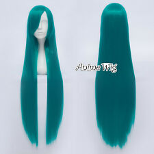 Halloween Turquoise Green 80cm Straight Women Girls Anime Cosplay Wig + Free Cap