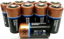 Duracell Ultra DL123A,CR123A 3V Lithium Batteries X 10