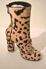 $1,750 Gucci Lillian Horsebit Pony hair Leopard Mid Calf Booties Boot 366028 6