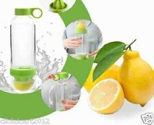 Citrus Zinger Lemon Lime Squeezer Juicer Water Bottle With Fruit Reamer