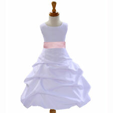 Girl Dresses Flower Wedding Dressy Occasions Pageant Size 2-16 years Pick-up New