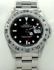 Rolex Explorer II 16570 GMT Stainless Steel Black Dial Men's Watch *MINT*