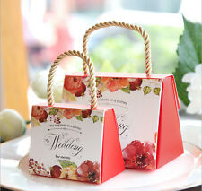 Large Spring Flower Wedding Party Favour Sweet Gift Boxes Bags Handbags Strings