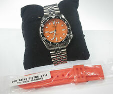 SEIKO DIVER'S 7002-automatic-orange dial-150m