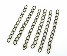100 x 50mm Bronze Plated Extension Link Chain