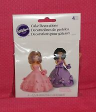 Mini Teen Doll Picks, Wilton,Pk. of 4,Cake Topper,Plastic with Hair,1511-1019