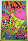 FANTASTIC FOUR FLOATING CITY THIRD EYE BLACKLIGHT POSTER 1971 Rare Marvelmania
