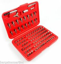 100pc Security Bit Set CRV Torx Star Tamper Proof Clutch Spanner Hex Tri-Wing