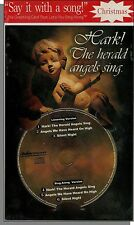 Karaoke Christmas Card with 3 Song CD! Silent Night, Hark The Herald Angels Sing