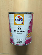 GLASURIT 22 Mix HS-2K-Decklack 22-M 63 Mittelblau, 1 Liter 22-M63