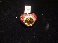 PRICE CUT EMERGENCY!$2250 RARE IMPORTANT 18CT LARGE CITRINE AND SAPPHIRE RING!!