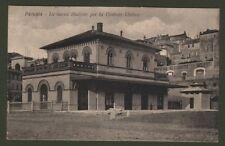 PERUGIA.Veduta esterna della nuova stazione per la Centrale Umbra.Sped. nel 1924