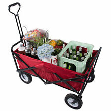 Transport cart foldable Wagon Handcart Car device collapsible Garden trolley