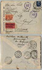 REGNO IMPERIALE 1,25L(253)+2,50L(ESPRES 16)-Busta Bressanone- Svizzera 18.8.1940