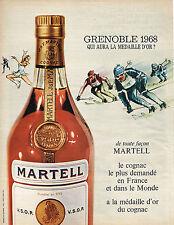 PUBLICITE   1967   MARTELL  cognac jeux OLYMPIQUES 1968 GRENOBLE