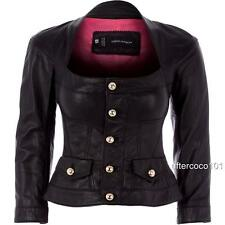 Dsquared2 black Lamb Leather Jacket UK6-8 IT42  Dsquared, rrp1690GBP