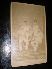 Cdv old photograph soldiers beer by bopp at Weingarten Germany c1870s