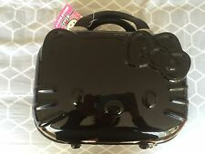 BNWT Hello kitty black train makeup cosmetic case hard cover