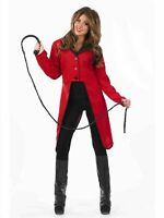 Ladies Adult Circus Ringmaster Jacket Tailcoat Carnival Lion Fancy Dress Costume