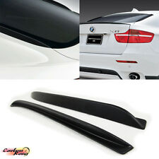 Matte Black BMW E71 X6 Series Rear Fin Fins Performance Type 2 Pcs 08-13 ☆