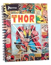 Norma Marvel Comics THOR Hardcover 80 Sheet Spiral Notebook W/Stickers NEW