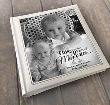 "Personalised large photo album 6x4"" x 200 this is your life 70 years of memories"