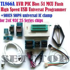 TL866A High Speed USB Minipro Programmer AVR PIC Bios 51 MCU Flash Newest