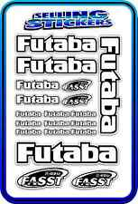 FUTABA SERVO RADIO RX TX 2.4G FLIGHT REMOTE CONTROL STICKERS FASST WHITE B DRIFT