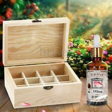 12 Bottles Essential Oil Wooden Storage Box Carrying Case Container Organizer
