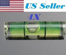 """4 PCs D 8mm L 35mm Acrylic Bubble Spirit Level Vial 5/16"""" (D) x 1 3/8"""" (L)"""
