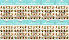HUGE LOT Jolee's GINGERBREAD REPEATS Stickers - 10 Packs - CHRISTMAS