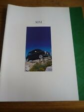 MINI SPRITE, MAYFAIR AND COOPER 1.3i VERY OVERSIZED SALES BROCHURE 1992