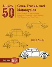 NEW PAPERBACK Draw 50 Cars Trucks Motorcycles : The Step-by-Step Way to Draw