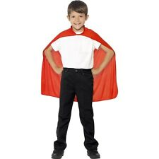 Boys Girls Super Hero Fancy Dress Costume Superman World Book Day Red Cape