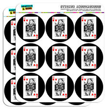 "Playing Cards Queen of Hearts 2"" Scrapbooking Crafting Stickers"